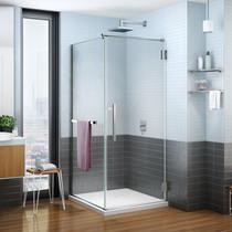 "Fleurco |  Platinum Cube 32"" x  79"" Shower Door with Return Panel, Chrome"