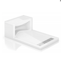 Fleurco | Alessa Seated Shower Base White, Right Side