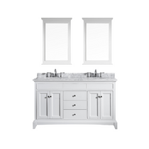"Everglades 72"" White Double Sink Bathroom Vanity"