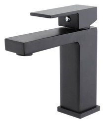 Midnight Bathroom Single Hole Vanity Faucet Matte Black