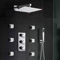 Royal VAGAS Thermostatic Shower Mixer Massage Jet Bathroom System