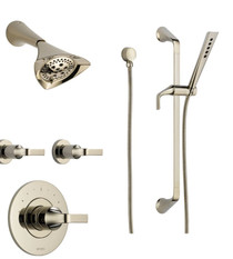 Brizo Sensori Custom Sotria Thermostatic Shower System with Showerhead, Volume Controls, and Hand Shower - Valves Included