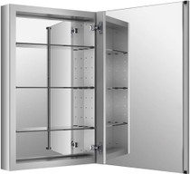 "Kohler 20"" x 30"" Single Door Reversible Hinge Frameless Mirrored Medicine Cabinet from the Verdera Collection Model:"