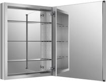 "Kohler Verdera 30"" x 24"" Single Door Frameless Medicine Cabinet with Triple Mirror Design and Two-Way Adjustable Hinges"