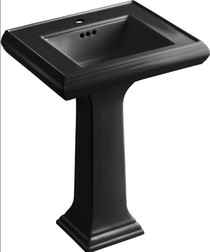"Kohler Memoirs Classic 24"" Pedestal Bathroom Sink with Single Faucet Hole"