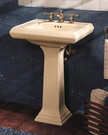 "Kohler Memoirs pedestal lavatory with 4"" centers"
