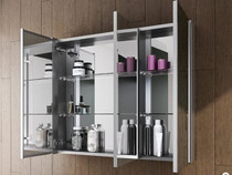Fleurco TRI-VIEW FLAT EDGE LED Medicine Cabinet