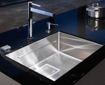 Franke Peak 28.75-in x 17.75-in x 9.63-in Square Drain Integrated Ledge System Undermount Single Bowl Stainless Steel Kitchen Sink in Radiant Stainless Steel