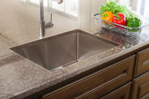 "Franke Vector 25"" Dual Mount Single Basin 18 Gauge Stainless Steel Kitchen Sink - Sink Accessories Included"