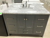 "Royal Olympia 48"" Gray Bathroom Vanity"