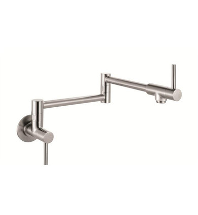Franke PF3450 Steel Wall Mounted Pot Filtration Kitchen Faucet in Stainless Steel
