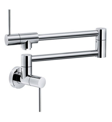 """Franke PF4400 Pescara 5 5/8"""" Single Hole Wall Mounted Pot Filler Kitchen Faucet With Finish: Polished Chrome"""