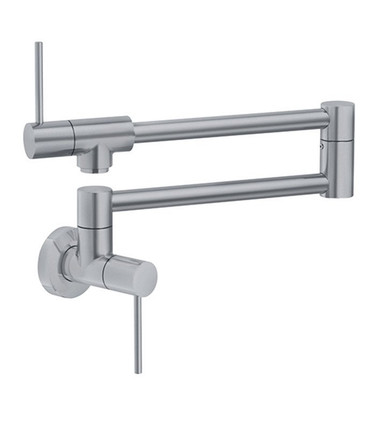 """Franke PF4480 Pescara 5 5/8"""" Single Hole Wall Mounted Pot Filler Kitchen Faucet With Finish: Satin Nickel"""