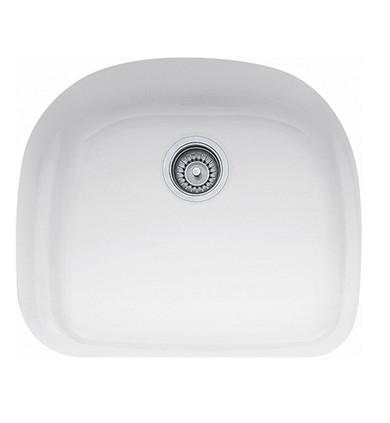 "Franke PRK11021WH Prestige 23 3/8"" Single Basin Undermount Fireclay Kitchen Sink in White"