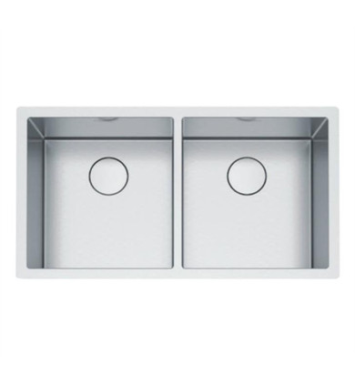 """Franke PS2X120-16-16 Professional 2.0 35 1/2"""" Double Bowl Undermount Stainless Steel Kitchen Sink"""