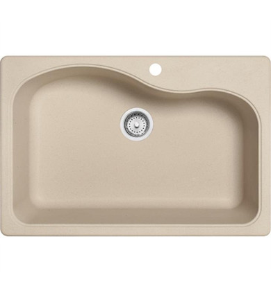 """Franke SC3322-1 Gravity 33"""" Single Basin Undermount/Drop In Granite Kitchen Sink from Home Collection"""