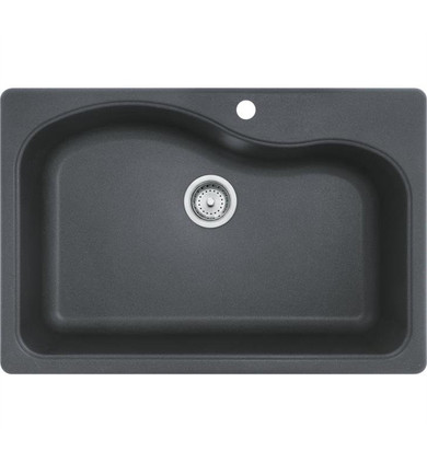 """Franke SGR3322-1 Gravity 33"""" Single Basin Undermount/Drop In Granite Kitchen Sink from Home Collection"""