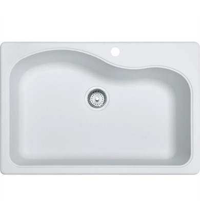 """Franke Gravity 33"""" Single Basin Undermount/Drop In Granite Kitchen Sink from Home Collection"""