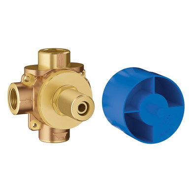 """Grohe Concetto 1/2"""" 3-Way Diverter Rough-In Valve - 3 Functions and 3 Shared"""