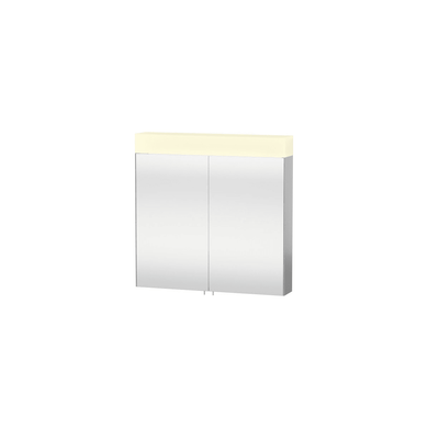 """Duravit 31-1/2"""" x 31-1/2"""" Double Door Medicine Cabinet with Plain Mirror and LED Light"""