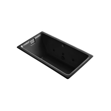 """Kohler Tea-For-Two 66"""" Drop In, Undermount Acrylic Experience Tub with Reversible Drain, Overflow and Custom Pump  Location"""