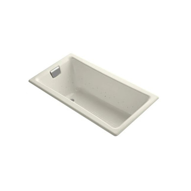 """Kohler Tea-For-Two 60"""" Drop In Cast Iron Air Tub with Reversible Drain and Overflow"""
