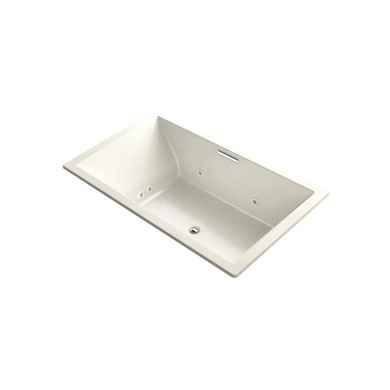 """Kohler Underscore Rectangle 72"""" Drop In Acrylic Air / Whirlpool Tub with Center Drain"""