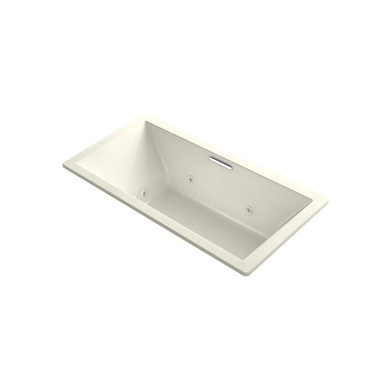 """Kohler Underscore Rectangle 72"""" Drop In Acrylic Air / Whirlpool Tub with Center Drain and Overflow"""