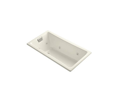 """Kohler Tea-For-Two 60"""" Drop In, Undermount Acrylic Experience Tub with Reversible Drain, Overflow and  Custom Pump Location"""