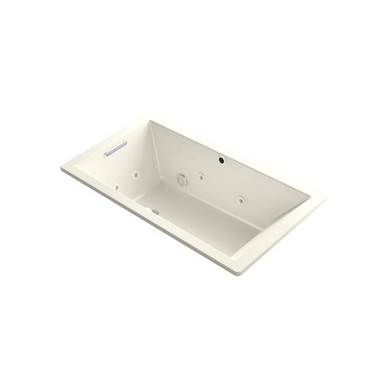 """Kohler Underscore Rectangle 66"""" Drop In Acrylic Air / Whirlpool Tub with Reversible Drain"""
