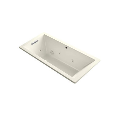 """Kohler Underscore Rectangle 66"""" Drop In Acrylic Air / Whirlpool Tub with Reversible Drain and Overflow"""