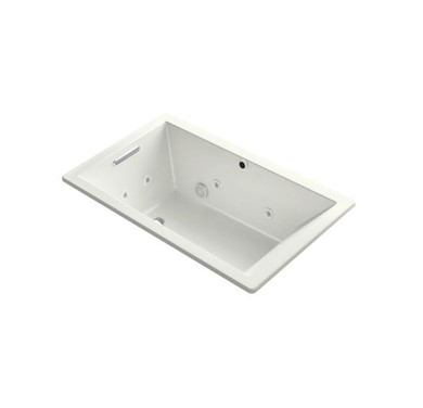 """Kohler Underscore Rectangle 60"""" Drop In Acrylic Air / Whirlpool Tub with Reversible Drain and Overflow"""