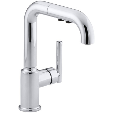 Kohler Purist Single Handle Kitchen Faucet with Pullout Spray