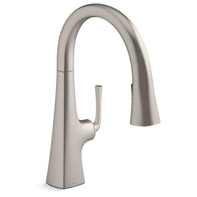 Kohler Graze 1.5 GPM Pull Down Kitchen Sink Faucet with Three Function Sprayhead