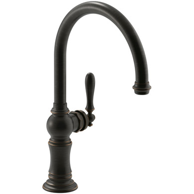 """Kohler Artifacts High-Arch 14-11/16"""" Kitchen Faucet with Temperature Memory Technology"""