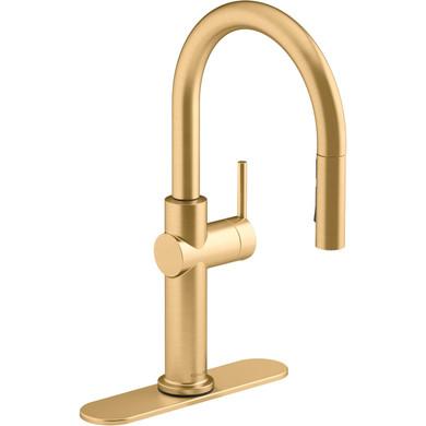 Kohler Crue 1.5 GPM Single Hole Pull Down Kitchen Faucet - Includes Escutcheon
