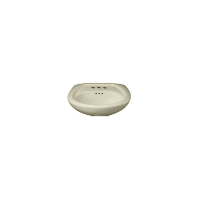 "PROFLO 24"" Pedestal Sink with 3 Drilled Faucet Holes (4"" Centers) - Less Pedestal"