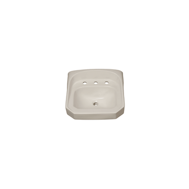 "PROFLO 20-1/4"" 3 Hole Wall Mounted Oval Bathroom Sink"