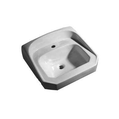 """PROFLO 21"""" Wall Mounted Bathroom Sink with 1 Hole Drilled"""