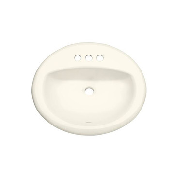 """PROFLO 20-1/2"""" Self Rimming (Drop-In) Oval Bathroom Sink - 3 Holes Drilled"""