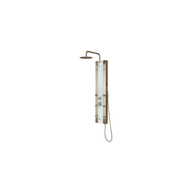 Pulse Tropicana Shower Panel with 2.5 GPM Rain Shower and Single-Function Handshower and Bodysprays, with Hose