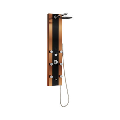 Pulse Rio Shower Panel with 2.5 GPM Rain Shower, Bodysprays, and Single-Function Handshower with Hose