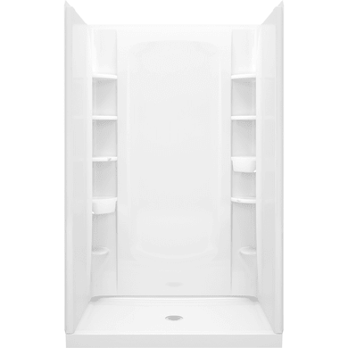 """Sterling STORE+ Vikrell 48"""" x 34"""" x 77"""" Shower Kit with Integrated and Removable Storage"""