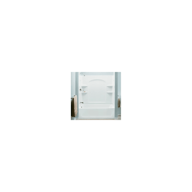 """Sterling Ensemble AFD, 60"""" x 32"""" x 76"""" Curve Bath/Shower with Age in Place Backers - Left-hand Drain"""