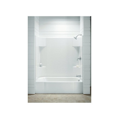 """Sterling Accord AFD, Series 7114, 60"""" x 30"""" x 74"""" Tile Bath/Shower - Right-hand Drain"""