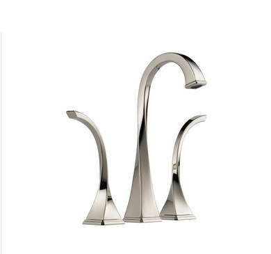 Brizo Virage 1.2 GPM Widespread Vessel Bathroom Faucet with Grid Drain Assembly