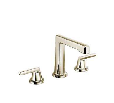 Brizo Levoir 1. 2 GPM High Spout Widespread Bathroom Faucet with Pop-Up Drain Assembly Less Handles
