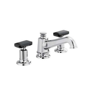 Brizo Invari 1.2 GPM Widespread Bathroom Faucet with Pop-Up Drain  Assembly Less Handles