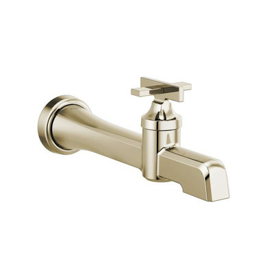 Brizo Levoir 1.2 GPM Single Hole Wall Mounted Bathroom Faucet Less Drain Assembly