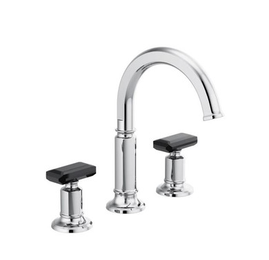 Brizo Invari 1.2 GPM Widespread Bathroom Faucet, Less Drain  Assembly and Handles